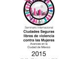 Participación en Seminario Internacional Ciudades Seguras libres de Violencia contra las Mujeres,México